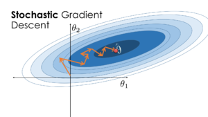 Visualization of the stochastic gradient descent algorithm